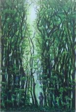 """""""Lost in the Woods"""" 24""""x36"""" Acrylic on canvas"""