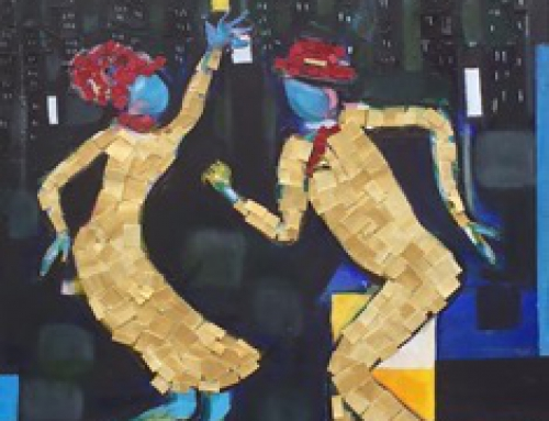 "North Coast Repertory Theatre Solana Beach CA Painting in Exhibition to celebrate new production of ""Ain't Misbehavin"""